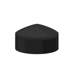 flat icon of black tubeteika traditional vector image