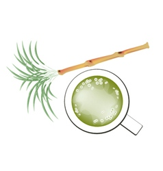 Fresh Sugarcane and Refreshing Sugar Cane Juice vector image