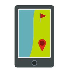 golf course on a tablet screen icon isolated vector image