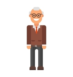Grandfather professor portrait vector