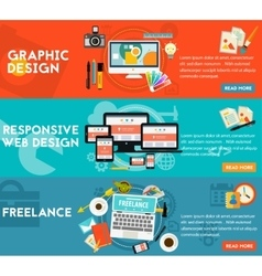 Graphic Design Responsive Webdesign and Freeance vector