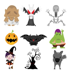 Halloween items vector