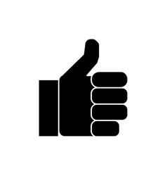 hand thumbs up icon sign o vector image