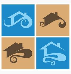 Home emblems vector