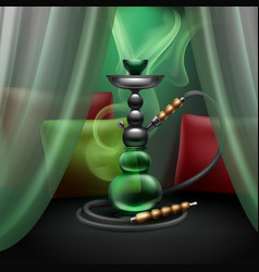 hookah lounge interior vector image
