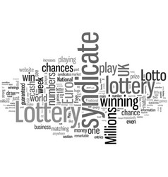 how to play the lottery for free vector image