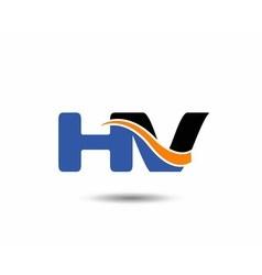 HV company linked letter logo vector