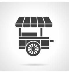 Ice cream cart black glyph style icon vector image