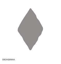 Icon with adinkra symbol obohemmaa vector