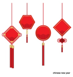 Label design for Chinese new year vector image