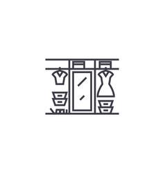 Large wardrobe line icon sign vector
