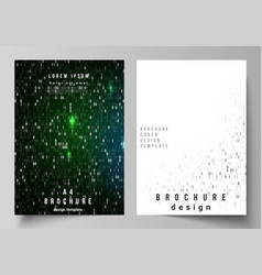 Layout of a4 format cover mockups design vector