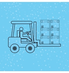 Logistic service design vector