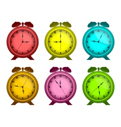 multicolored watches vector image vector image