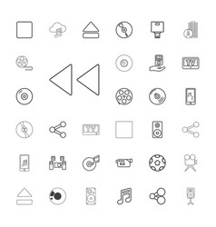 Multimedia icons vector