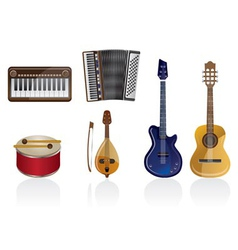 music instrument icons vector image