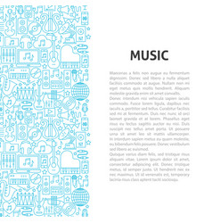 Music line pattern concept vector