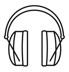 Noise headphones icon outline style vector