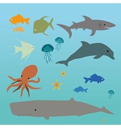 Ocean creatures vector