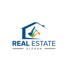 real-estate-logo vector image