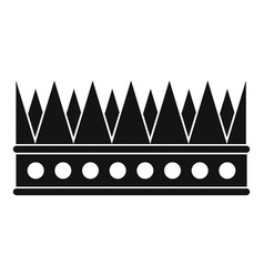 Regal crown icon simple style vector