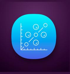 Scatter plot app icon scattergram mathematical vector
