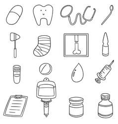 Set of healthcare icon vector