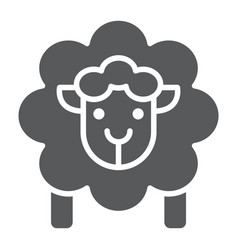 sheep glyph icon wool and animal lamb sign vector image