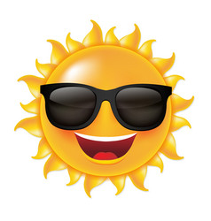 Sun with sunglasses vector