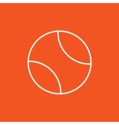 Tennis ball line icon vector image