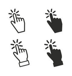 touch icons set vector image