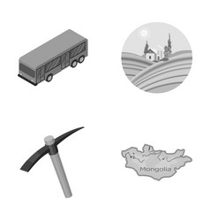 Transport mine and other monochrome icon in vector