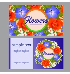 Two colorful cards for your business needs vector image