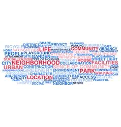 Urban neighborhood life vector