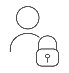 user unlocked thin line icon privacy and safety vector image
