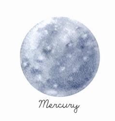 watercolor mercury planet vector image