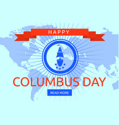world columbus day concept background flat style vector image