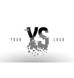 ys y s pixel letter logo with digital shattered vector image