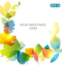 Abstract colorful leafs background vector image