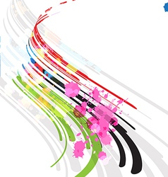 abstract stripe background design vector image vector image