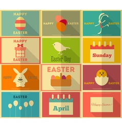 Easter Retro Posters vector image vector image