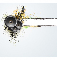 grunge floral abstract banner vector image