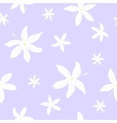 Jasmine flowers pattern vector image vector image