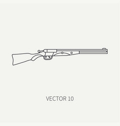 line flat hunt and camping icon shotgun vector image