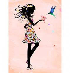 magician with a bird vector image vector image