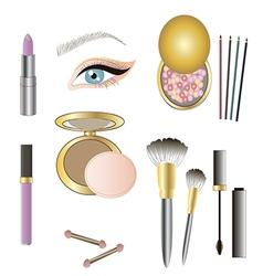 Make up details vector image