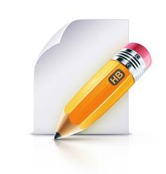 yellow pencil vector image vector image