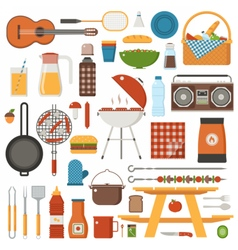 Barbecue and Picnic Set vector image vector image