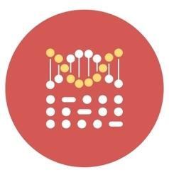 Genetic code flat round icon vector