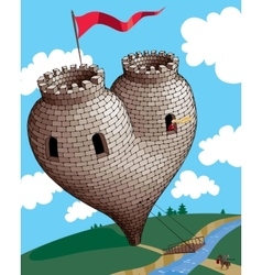 Heart tower vector image